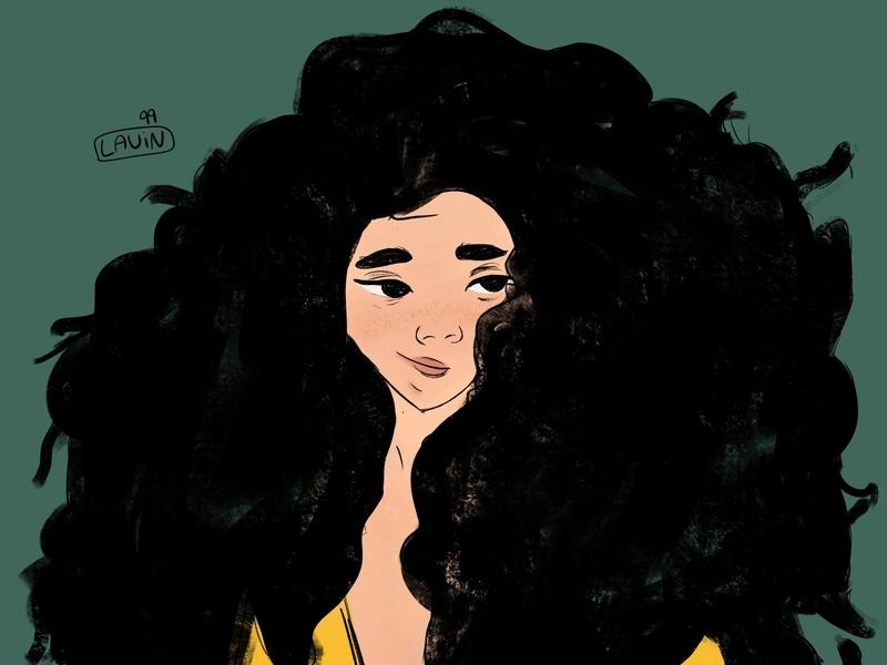 :) color 2d illustration illustrator girl 2d flat design illustration