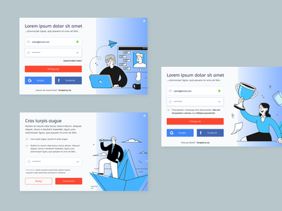 On Boarding Experience onboarding ux web creative illustration ui layout design