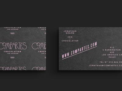 Compartes Chocolatier logos chocolate business cards los angeles compartes kyle poff