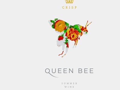 Queen Bee Summer Wine brand identity logo kyle poff