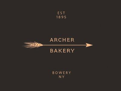 Archer Bakery Ny brand identity logo kyle poff
