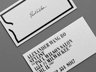 Paul Wilson Salon brand identity logo typography business cards kyle poff