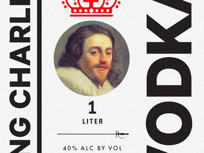 King Charles Vodka Label