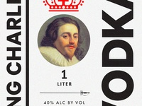 King Charles Vodka Label