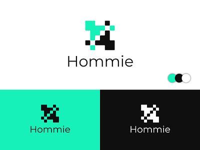 Hommie Abstract Logo design logo designer square designer letter logo logo collection logotype abstract typography flat icon design modern minimal brand identity logo trends 2020 lettering lettermark logos logo branding