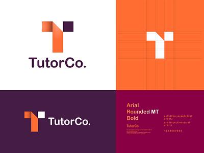 TutorCo. Personal Brand Logo lettermark logo lettering brading brand identity personal logo t letter logo tutor typography t letter type graphic design idea concept logo minimal modern logotype logo trends 2020 lettermark branding