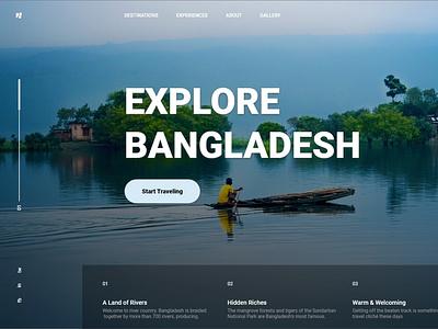 Explore Bangladesh - Website Design trends 2021 ui idea concept website design travel webdesigner webdesign uxdesign uidesign