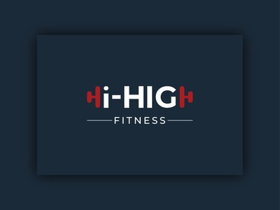 Hi-HIGH Fitness Brand Logo unique creative simple idea trainer exercise sports fit gym brand logo trends 2020 modern minimal design tre logotype fitness branding graphic design logo