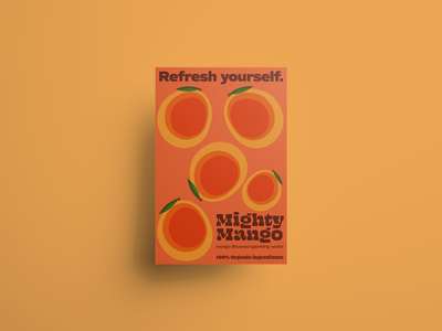 Refresh yourself. marketing poster packaging vector retro label design illustrator branding