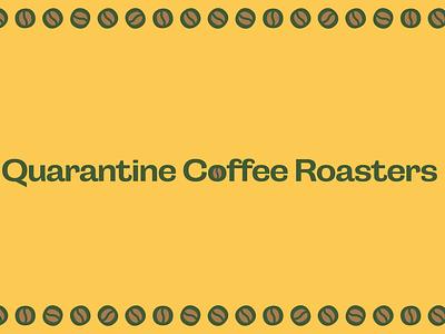 Quarantine coffee roasters corporate design coffee packaging label design illustrator branding
