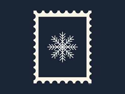 Snowflake stamp ❄️ stamp design stamp adobe illustrator illustration design retro illustrator
