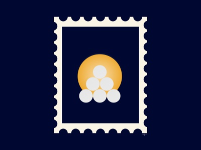 Snow lantern stamp 🕯 nordic winter winter illustration stamp design stamp retro vector illustration design illustrator
