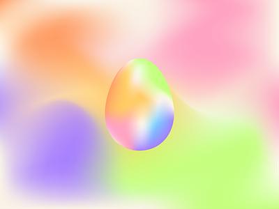 Easter Egg digital illustration minimalist pastel colors gradient easter egg design vector illustrator