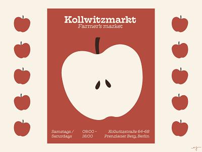 Kollwitzmarkt branding design type typography flat design graphic design berlin illustration retro vector illustrator