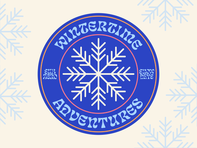 Badge for favorite season winter flat illustration logo graphic design badge illustration vector