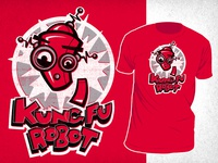 Red Kung Fu Robot Shirt