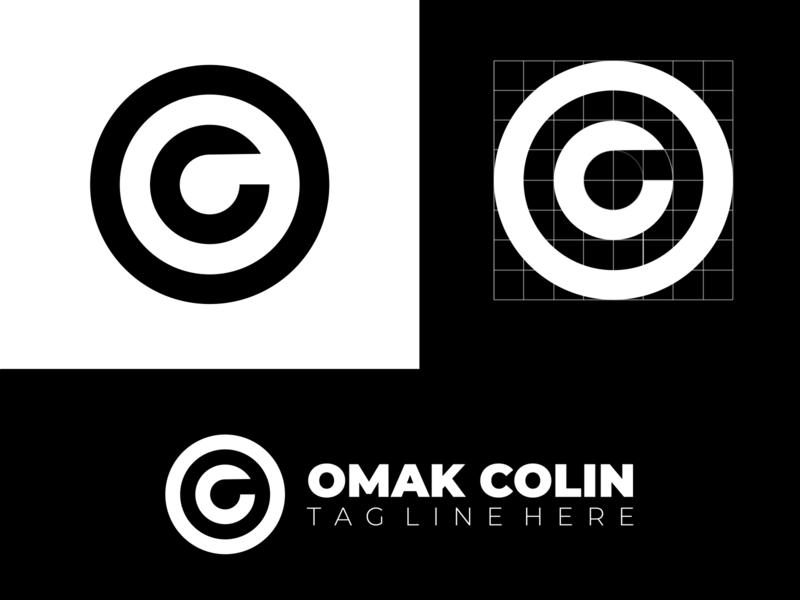 OC letter mark logo logodesign eye catching businesslogo creative logo eye center logo design logo illustration creative logos branding