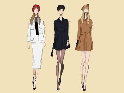 Marc jacobs - Autumn/Winter 2020 Ready-To-Wear design design art illustration illustration art fashion illustration digitalillustration