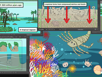 Illustrations for a Geology Animation