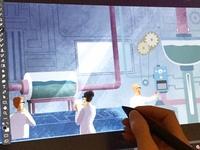 Lab interior illustration for animation