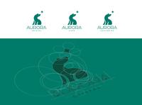 "Logo for ""Aurora Cristal""  company vector rounded grid branding souvenir bear logo aurora"