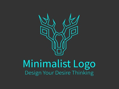 Deer Logo graphic design illustrator animal pet flat icon branding logo vector minimal