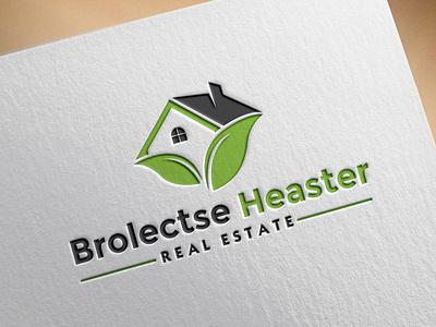 Real Estate Construction realtor property logo design typography graphic design illustrator branding vector minimal logo icon flat