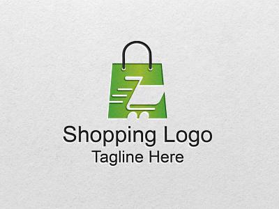 Shopping E-commerce online shopping logo graphic design design illustration vector illustrator branding icon minimal logo flat