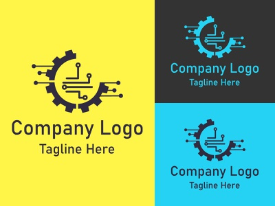 Unique minimal technology logo illustration design graphic design illustrator logo icon vector branding minimal technology flat