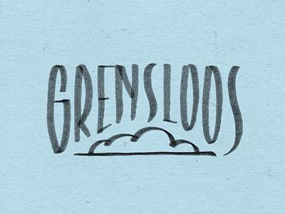Grensloos typography type custom handlettering dkr dekleinering