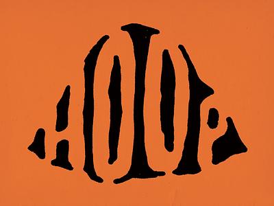 Hoop graphicmatters hoop type eroded handdrawn