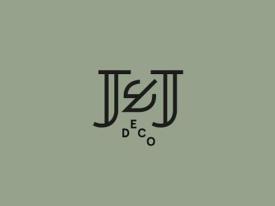 J&J Deco emblem type lettering logo mark logo