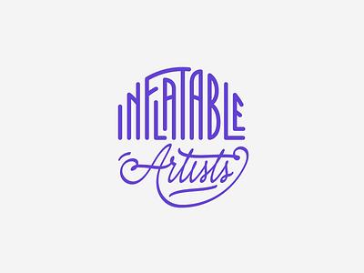 Inflatable Artists lettering handlettering typography custom logotype logo