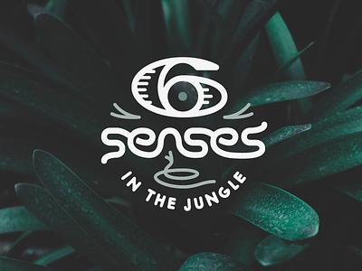 Six Senses in the Jungle project heart jungle six senses icon typography type custom logotype logo