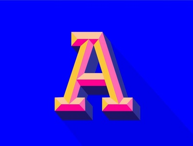 (6/n) the letters inspired illustrations illustrator graphic design graphic typography art lettering 3dlettering 3d art 3d icon typography vector illustration logo