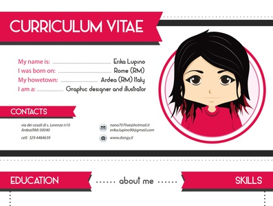 My curriculum vitae typography creative  design digital illustration vector illustration flat digitalart design artwork illustrator