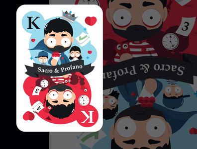 Sacro & Profano adobe illustrator adobe characterdesign creative typography lettering vector digital illustration art illustration flat digitalart artwork illustrator