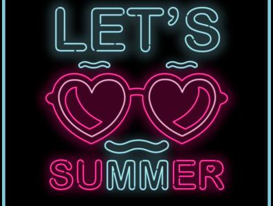 Lets summer vector illustration vector art creative fashion illustration fashiondesign fashion art design vector creative  design branding typography digital illustration illustration digitalart artwork illustrator
