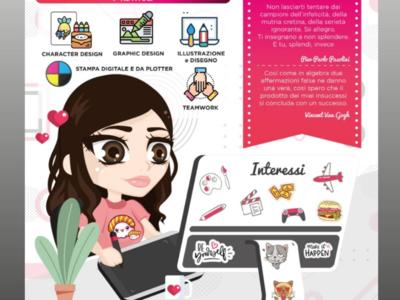 Infografic curriculum illustrator chibi portrait graphic digitalart art infografic vector creative illustration graphicdesign