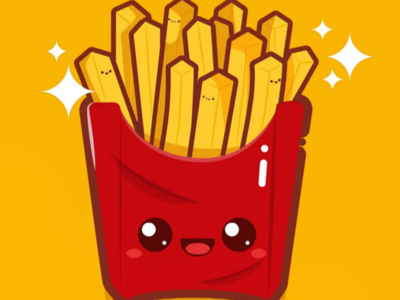 Kawaii French fries🍟 daily art artwork vectorart digitalpaintig digitalart adobe kawaii chibi food characterdesign graphicdesign illustrator illustration