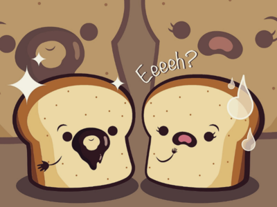 Barba al cioccolato cute kawaii chibi artwork creative food characterdesign adobe vectorart digitalart art graphicdesign illustrator illustration