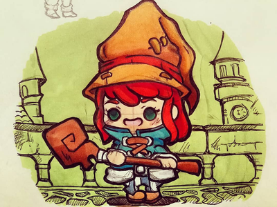 Vivi girl inspiration artwork copic sketch cute kawaii chibi illustration characterdesign graphicdesign illustrator final fantasy