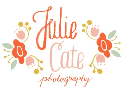 Julie Cate Photography logo logo typography illustration