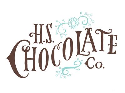 Chocolate logo typography illustration chocolate logo