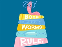 Book worms rule