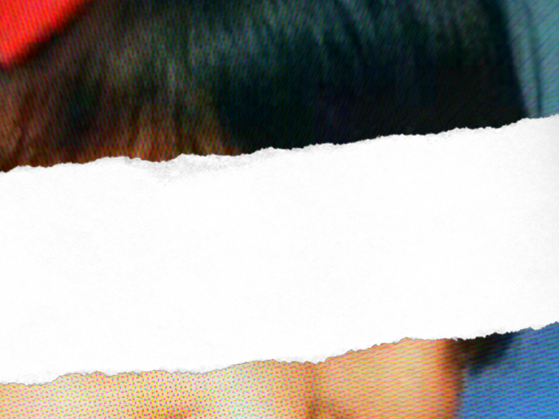 Poster Detail paper torn distorted vintage psycho ripped halftone face