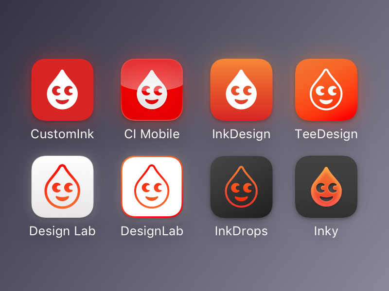 CustomInk Icon Exploration apple icons ios icons diffuse shadow skeuomorphism drop ink mobile icons ios