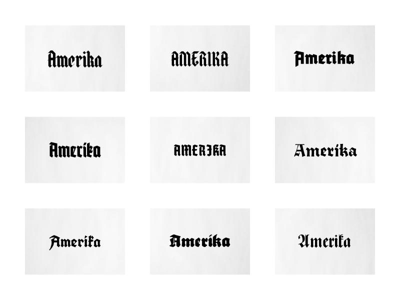 Wolfenstein Nazi Type Study halja game german typography antiqua gothic blackletter type wolfenstein fraktur nazi
