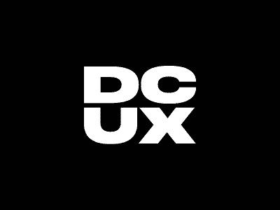 DCUX acronym wordmark avatar druk brutalism dcux community ux dc