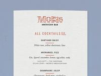 Morris menu